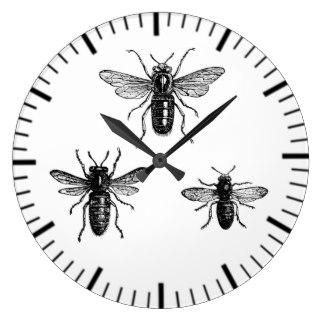 324x324 Vintage Bee Wall Clocks Zazzle.co.uk