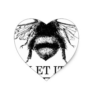 324x324 Vintage Bees Stickers