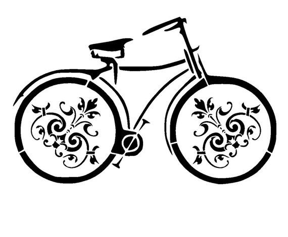 570x470 66 Vintage Bicycle Stencil 3.