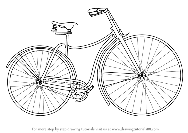 800x566 Learn How To Draw Vintage Cycle (Vintage) Step By Step Drawing