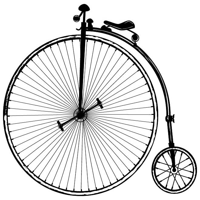 660x660 Vintage Bicycle Vector Image.eps, Vector Image