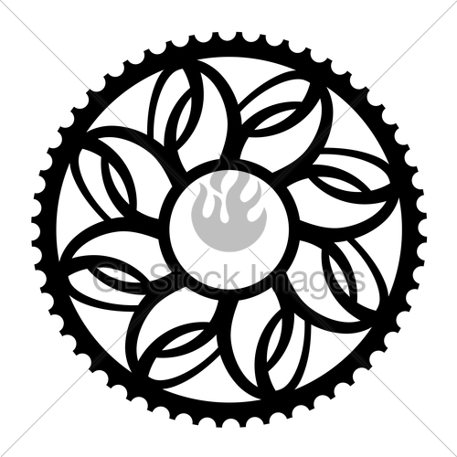 500x500 Vintage Bicycle Cogwheel Chainwheel Symbol Gl Stock Images