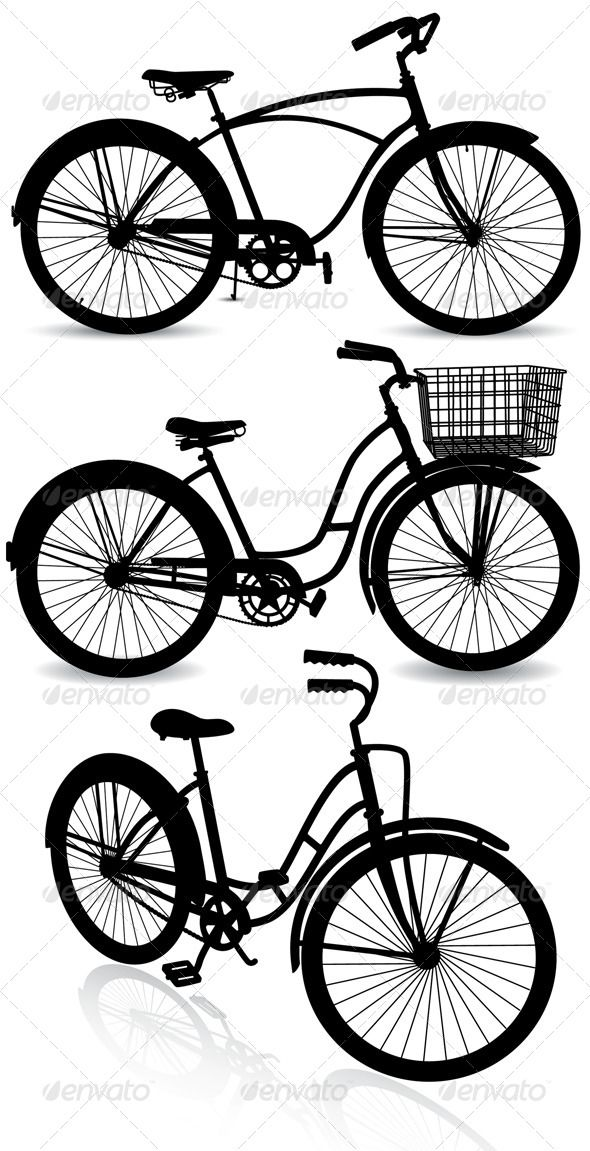 590x1151 Drawn Bike Retro Bicycle