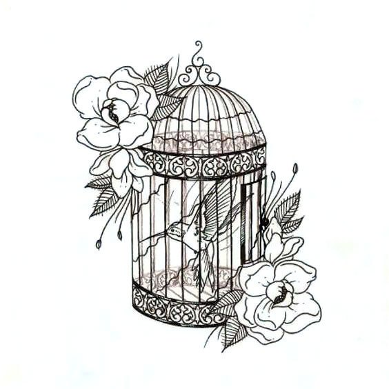 564x564 Cage Tattoo Drawing