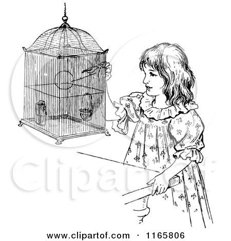 450x470 Clipart Vintage Black And White Antique Bird Cage On A Stand