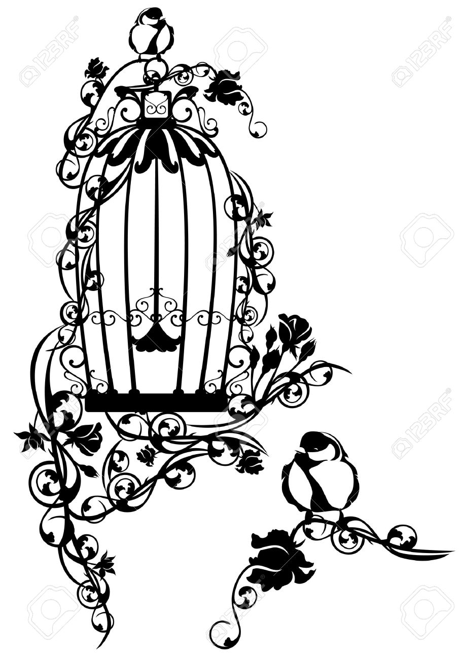 vintage birdcage drawing at free for personal use vintage birdcage drawing of. Black Bedroom Furniture Sets. Home Design Ideas