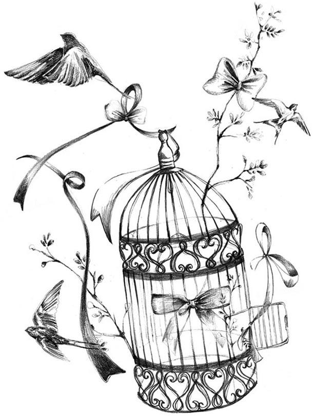 610x811 Pretty Birdcage