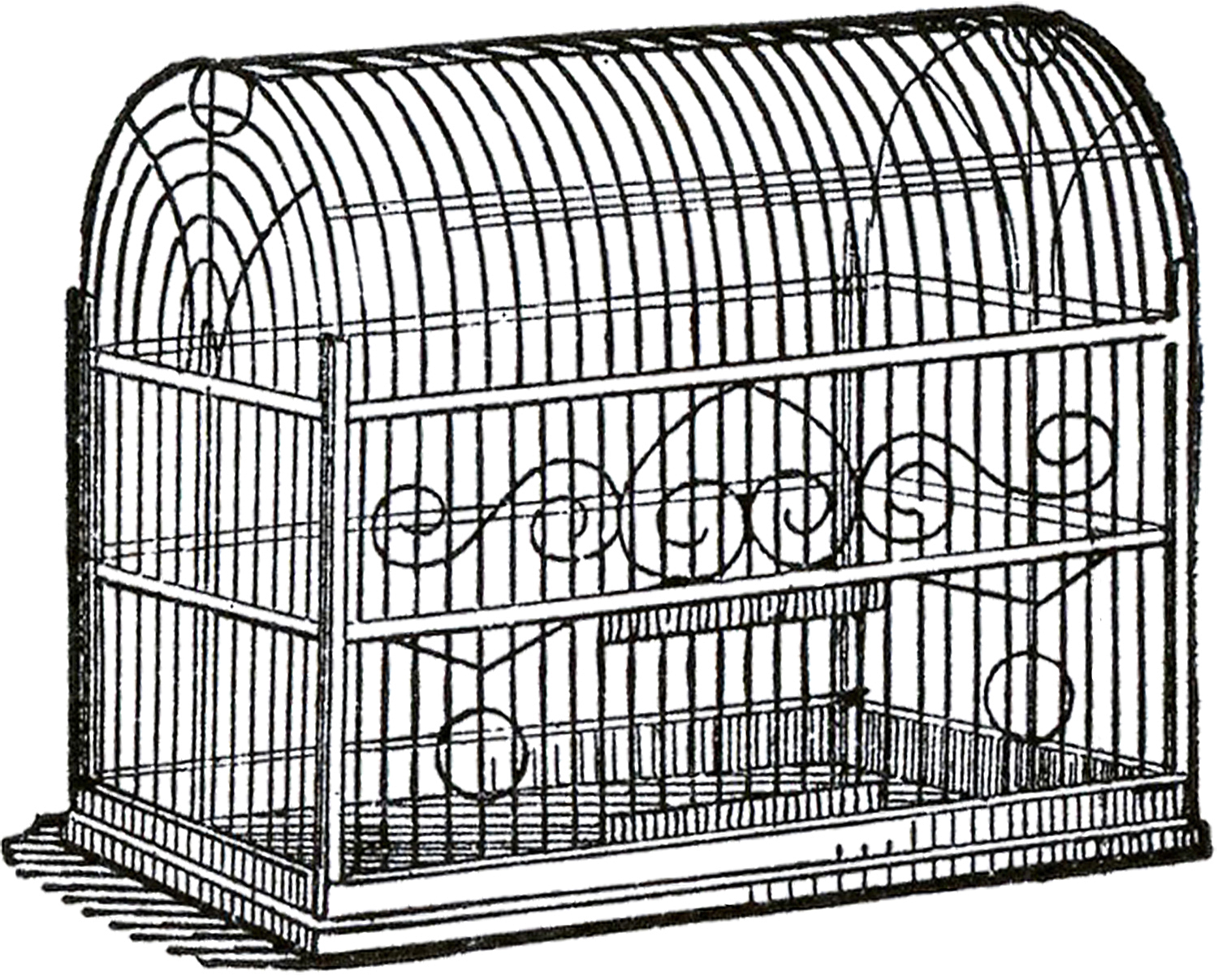 1500x1207 Vintage Bird Cage Image Bird Cages, Graphics Fairy And Bird
