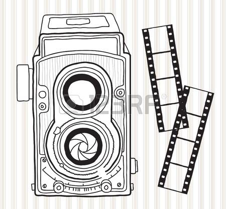 450x417 Hand Drawn Vintage Camera Royalty Free Cliparts, Vectors,