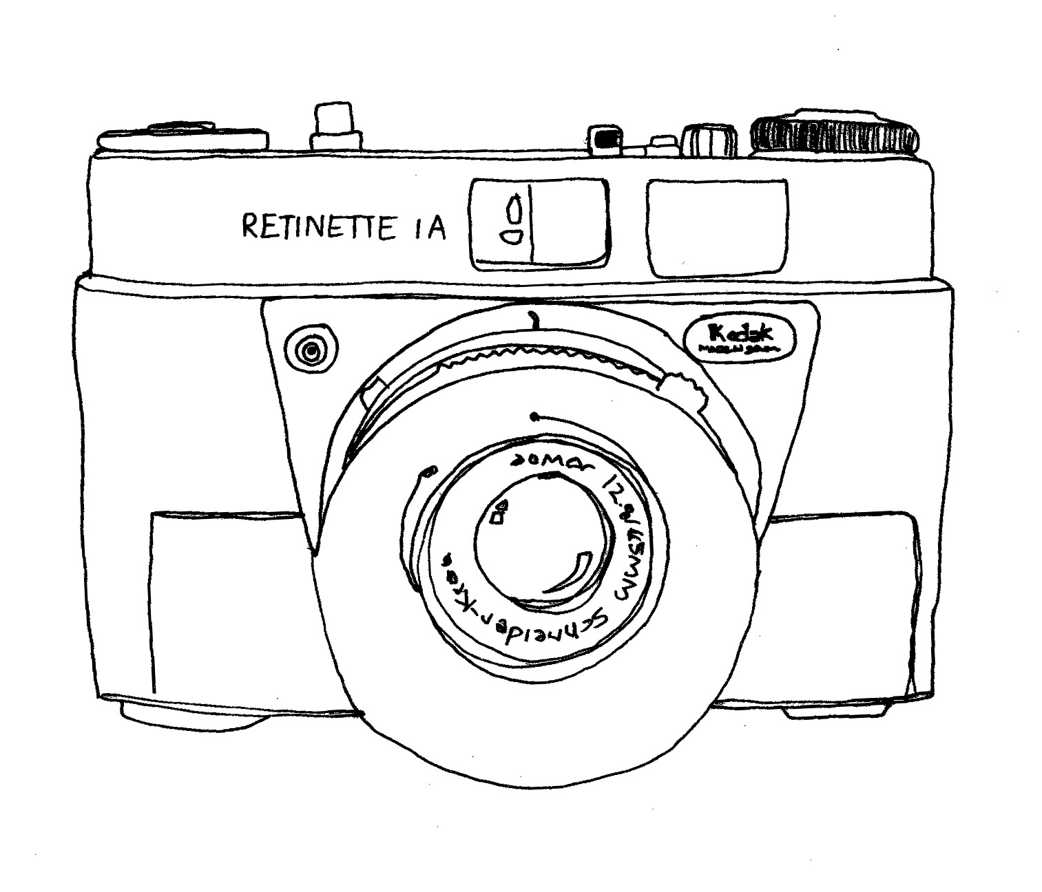 1513x1296 Little Bee Designs Vintage Camera's Quick Drawings.