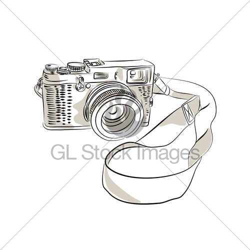 500x500 35mm Slr Film Camera Drawing Gl Stock Images