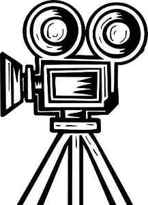 217x300 Vintage Film Projector Home Movie Camera Theater Black Vinyl