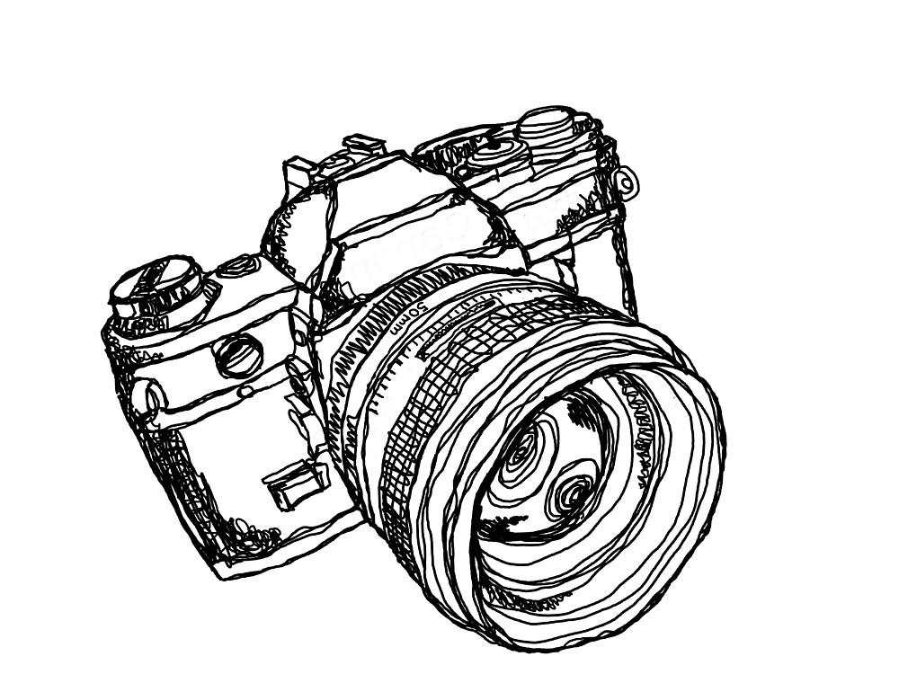 1000x750 Vintage 35mm Slr Camera Design By Strayfoto Redbubble