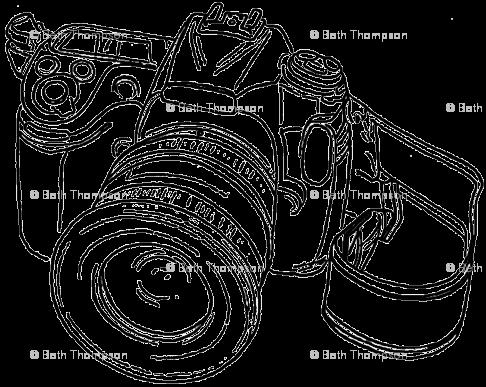 486x387 Camera Sketch Giftwrap