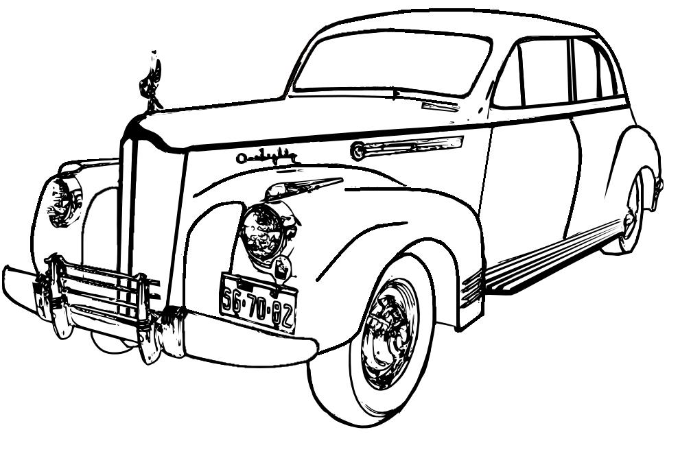 Vintage Car Drawing at GetDrawings