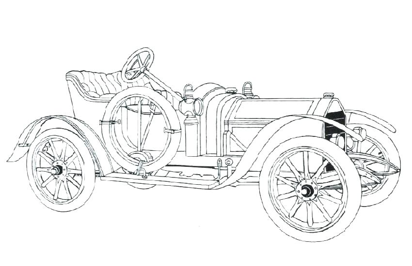850x550 Classic Cars Coloring Pages Old Car Coloring Pages Classic Cars