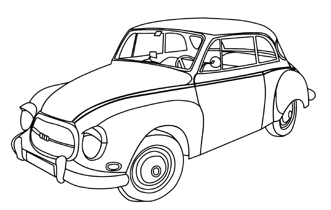 vintage car line drawing at getdrawings com