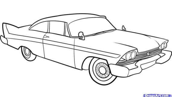 570x320 Classic Car Drawing How To Draw An Old Car Old Car Step Step Cars