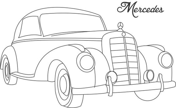 564x347 Line Drawing Of Old Cars Classic Muscle Car Coloring Page