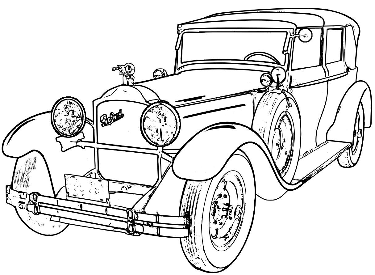 1215x890 Detailed Line Drawings Classic Cars