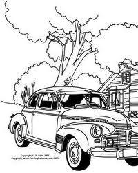 200x250 Vintage Cars Line Drawings