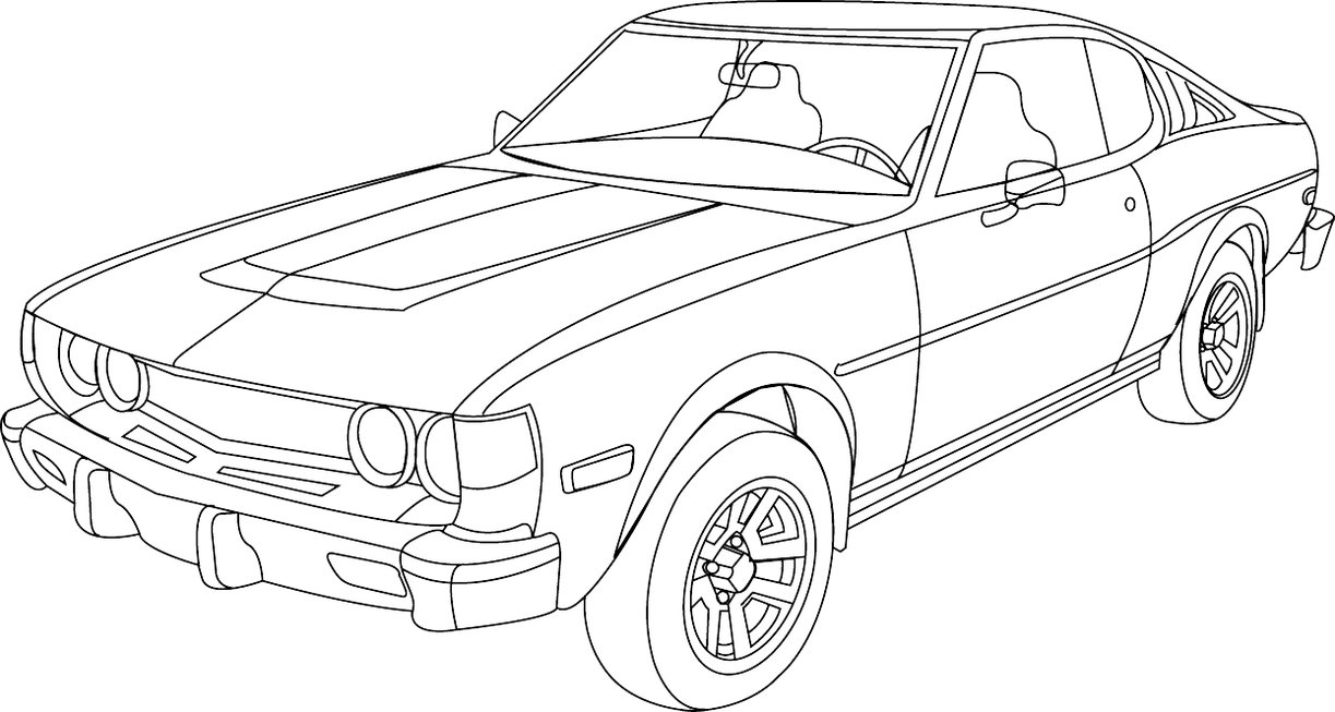 Vintage Car Line Drawing at GetDrawings.com | Free for personal use ...