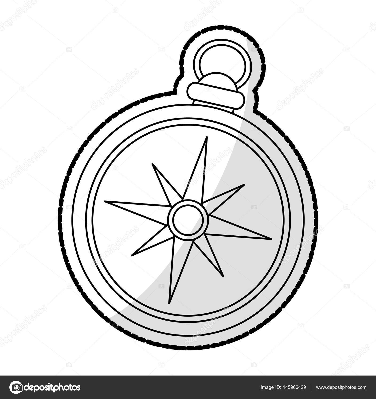 1600x1700 Vintage Compass Icon Image Stock Vector Jemastock