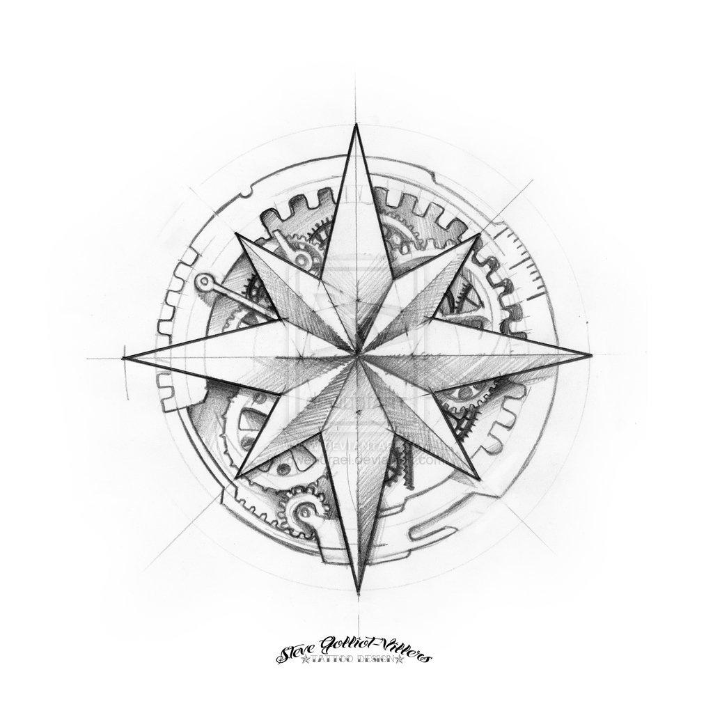 Vintage Compass Drawing At GetDrawings