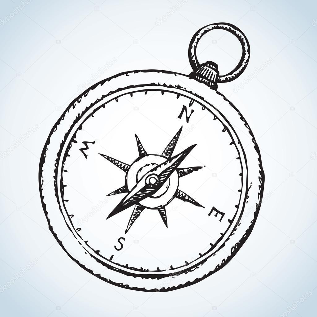 1024x1024 Compass. Vector Drawing Stock Vector Marinka