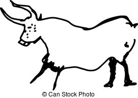 271x194 Vintage Hand Drawn Cow Icon. Farm Animal Silhouette Shape