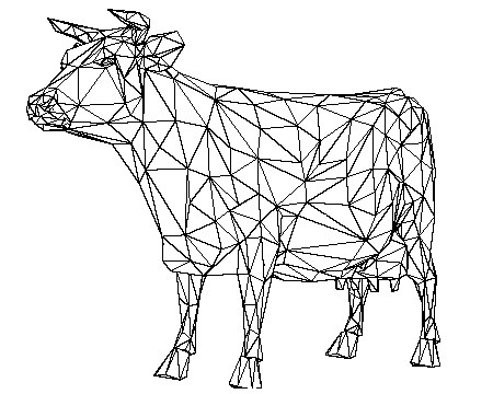 450x360 Cow Head Drawing