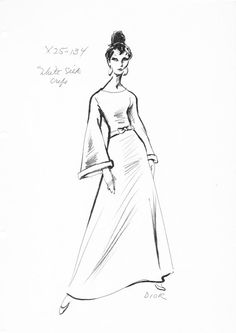 236x333 House Of Christian Dior Fashion Sketch From The 1960's Fashion