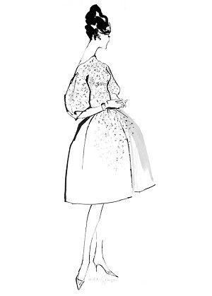 300x419 Jeanne C.1954. Fashion Illustration By Hilda Glasgow Fashion Art