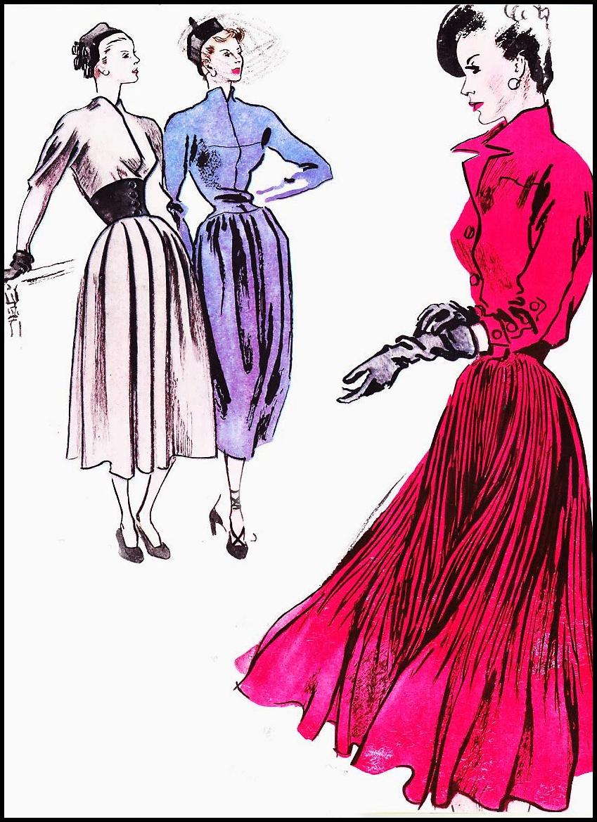 849x1169 Vintage Fashion Illustration Par Excellence! House Of Retro