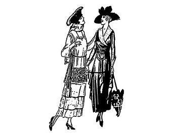 340x270 Vintage Fashion Girls 2 Fifties Series Flonz Clear Stamp