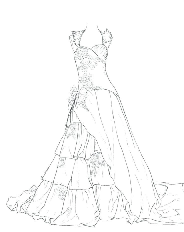 736x928 Coloring Pages Dresses