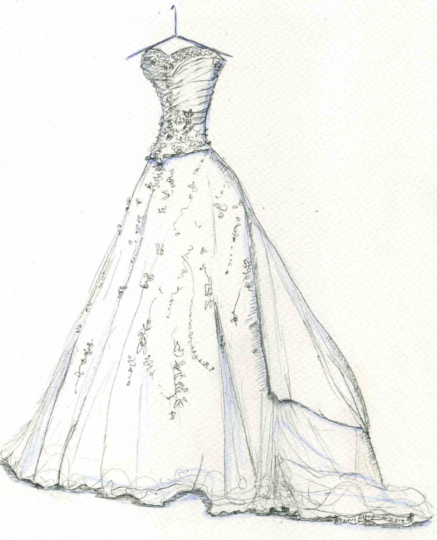 1515x1873 Vintage Fashion Sketches Couture Ceremonies
