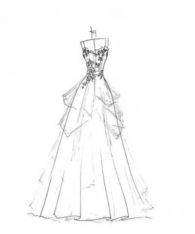 400x480 Wedding Dress Drawing