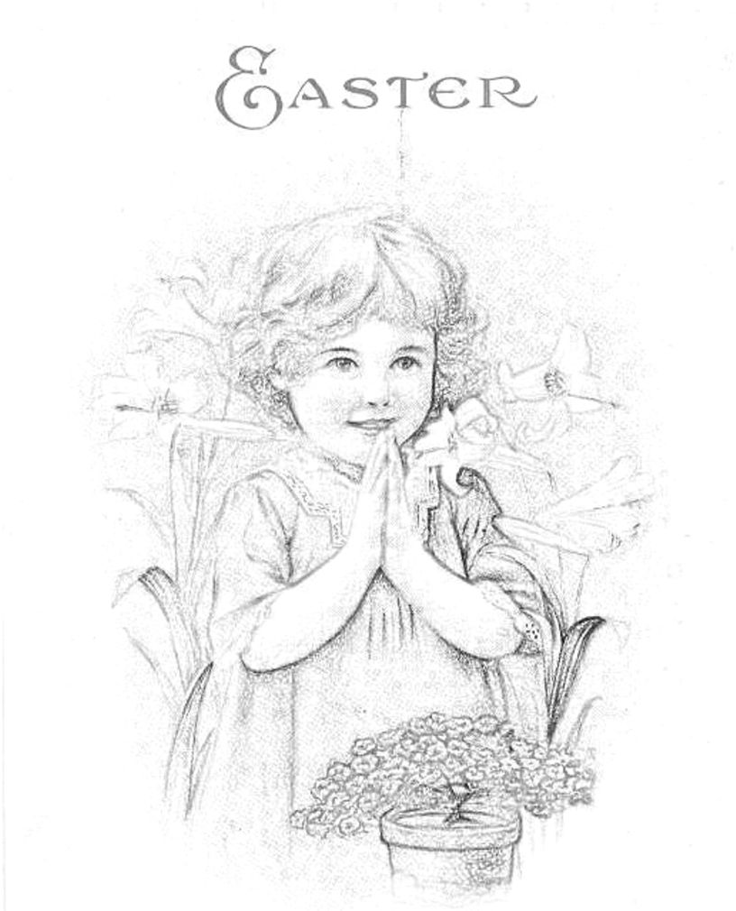 816x1010 Blog Direct Open Free Vintage Girl Praying Coloring Page Images