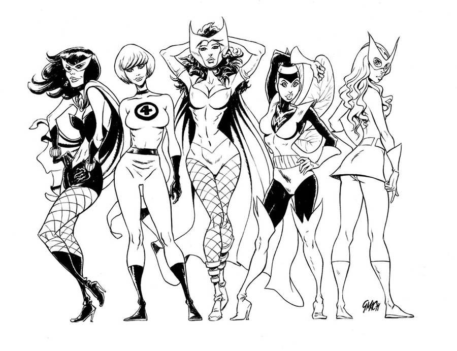 900x691 Vintage Marvel Girls By Gianmac