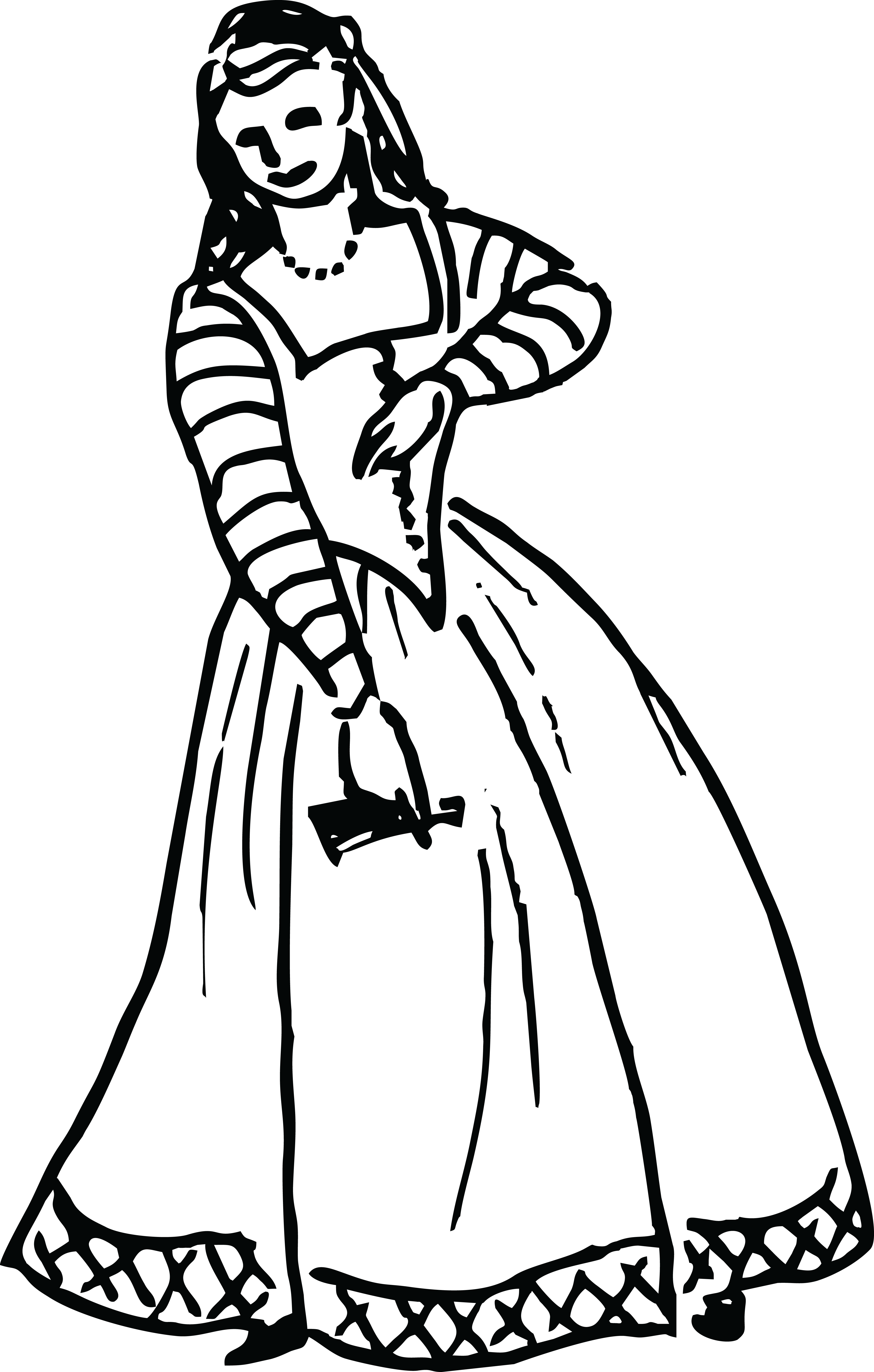 4000x6277 Free Clipart Of A Vintage Woman