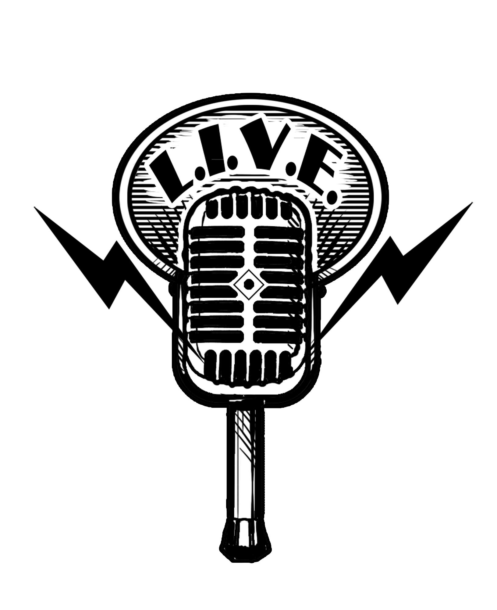 Vintage microphone drawing