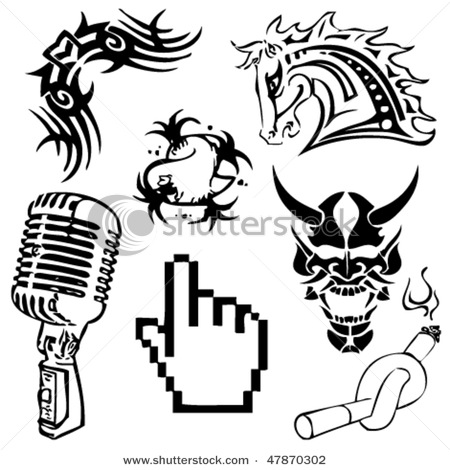 450x470 Free Old School Microphone Tattoo Art Taz On The Microphone