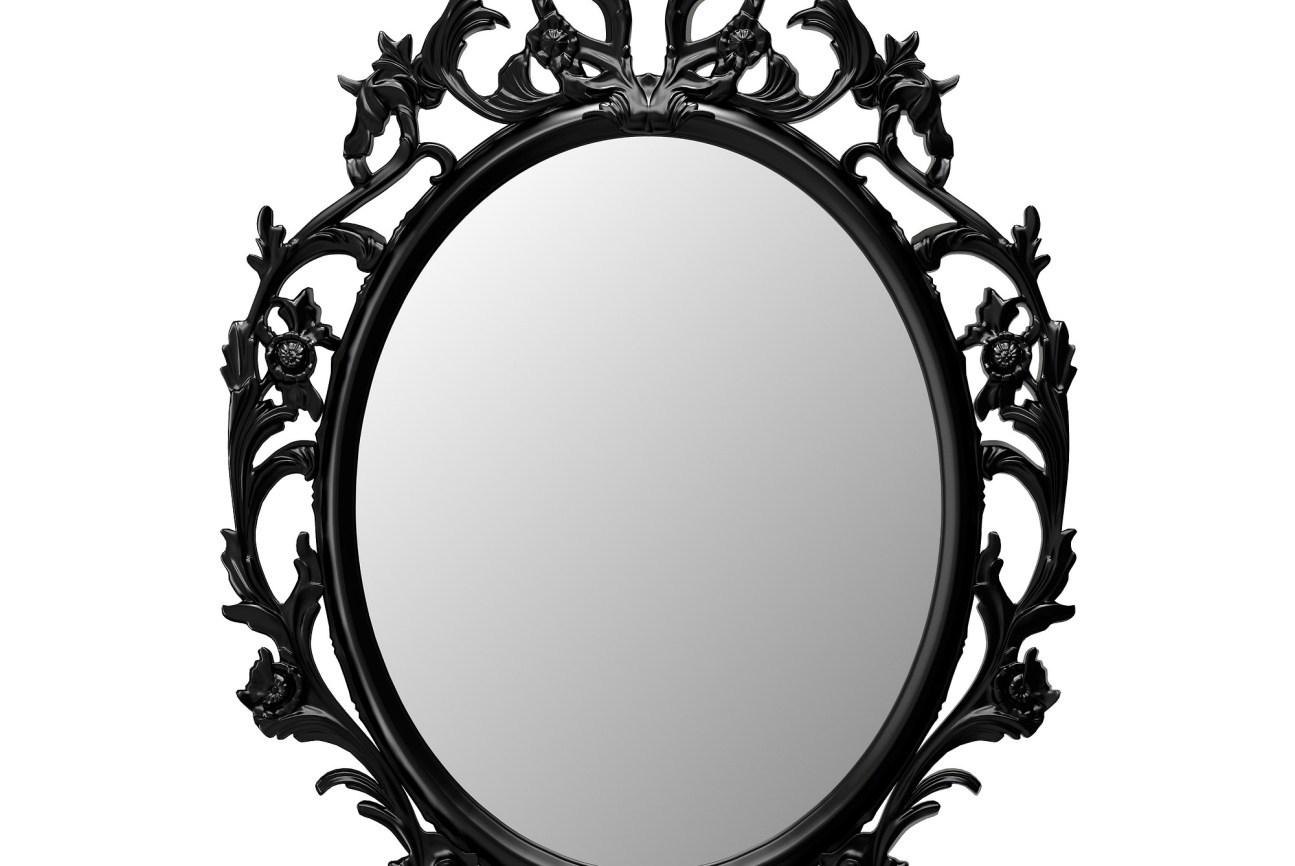 1295x866 Mirror Amazing Black Vintage Mirror Ung Drill Mirror Oval Black