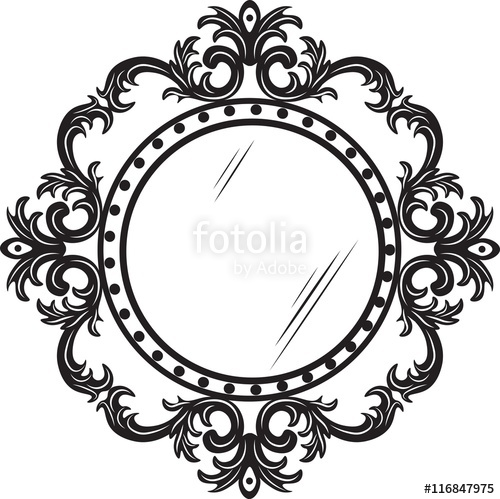 500x499 Vintage Round Ornamented Frame. Vector Decorated Frame Stock