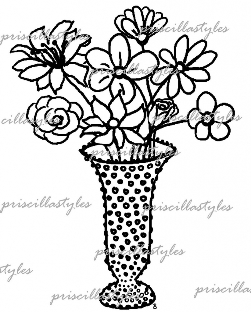 823x1024 Flowers Pots Sketch Wallpapers Drawings Of Flowers Clipart Best