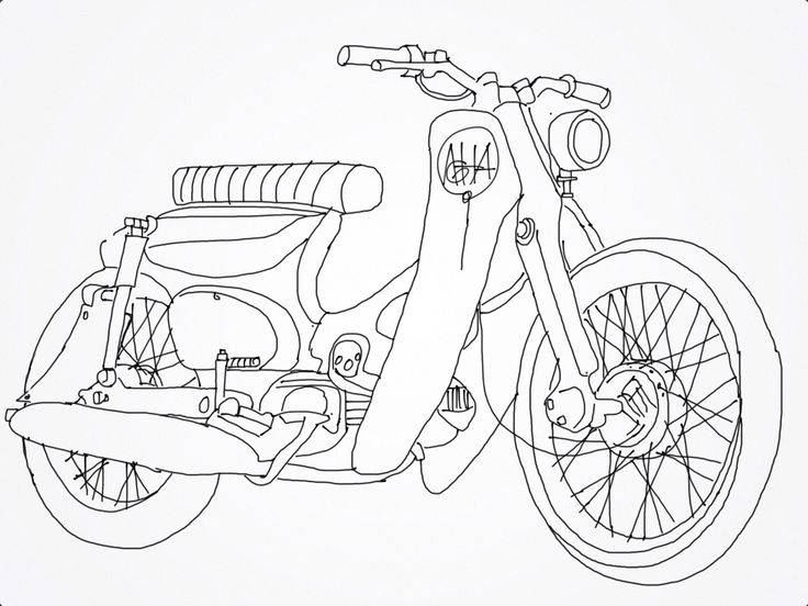 Vintage Motorcycle Drawing At Getdrawings Com Free For Personal