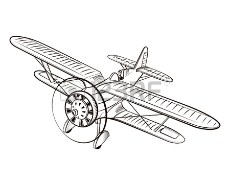 450x356 1,199 Vintage Biplane Stock Vector Illustration And Royalty Free