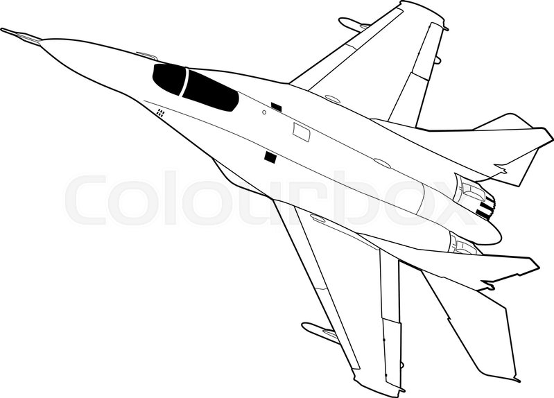 799x574 Landing Of Russian Jet Fighter Aircraft Mig 29. Technichal Draw