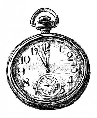 370x450 Pocket Watch Sketch Stock Vectors, Royalty Free Pocket Watch